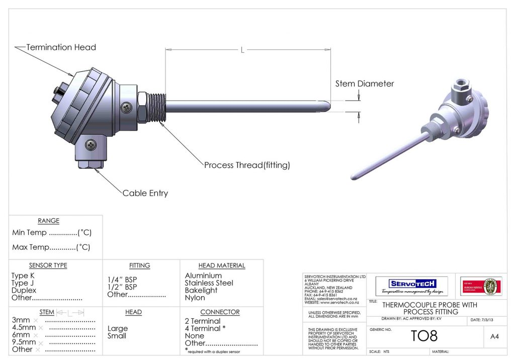 T08 WITH PROCESS FITTING