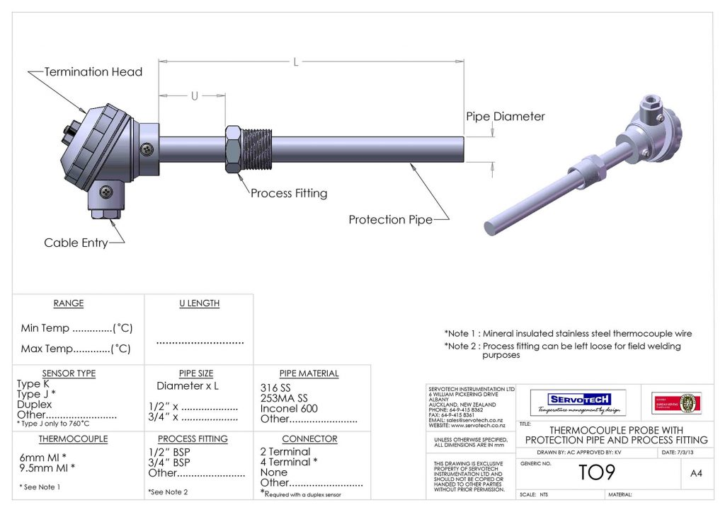 T09 WITH PROCESS FITTING