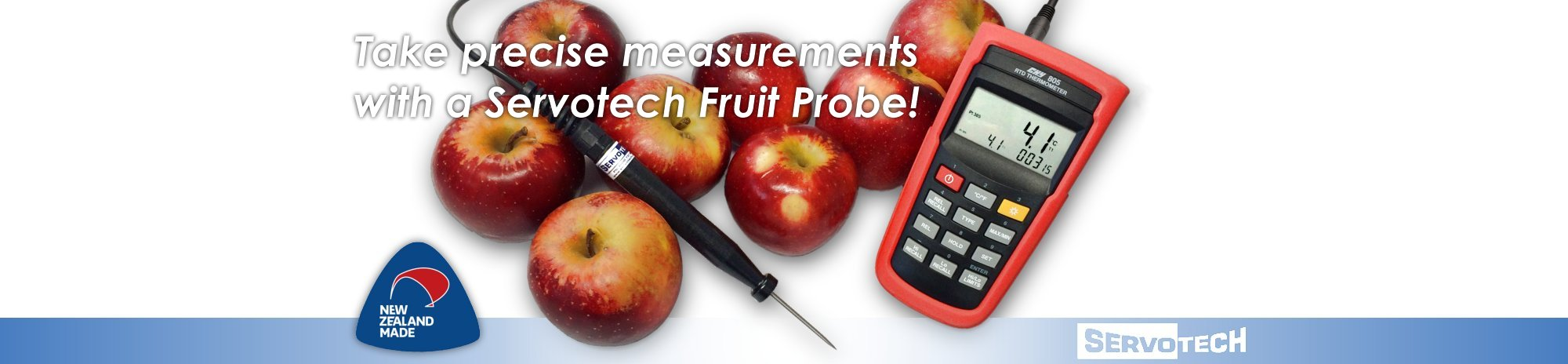Servotech Fruit Probes - precise temperature measurement of stored or fresh fruit